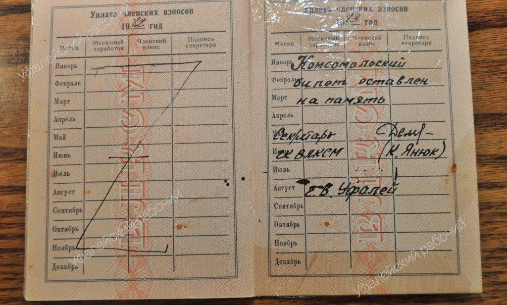 100 лет комсомола Верхний Уфалей
