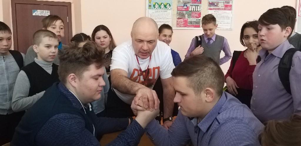 армрестлинг СОШ №5 Верхний Уфалей