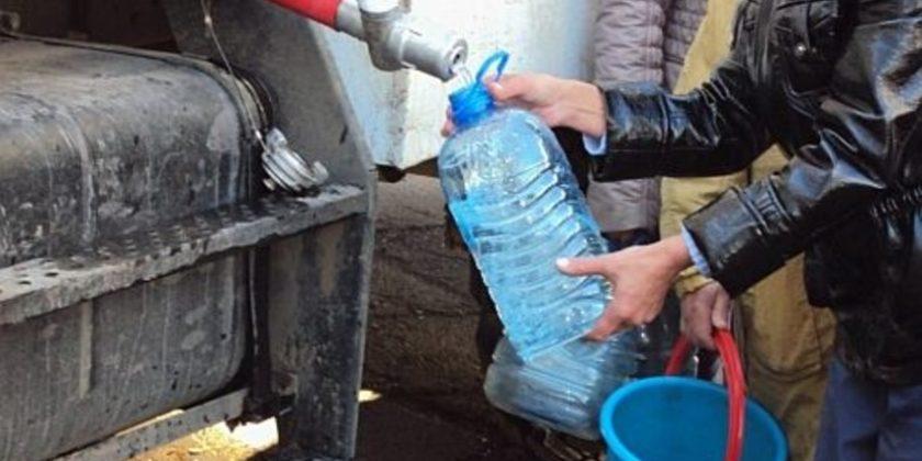 График подвоза питьевой воды к домам в мкр. Центральном на сегодняшний вечер (с 20.00)