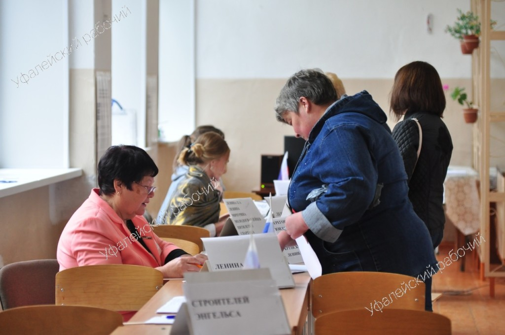 Явка избирателей в нашем городском округе на 14 часов