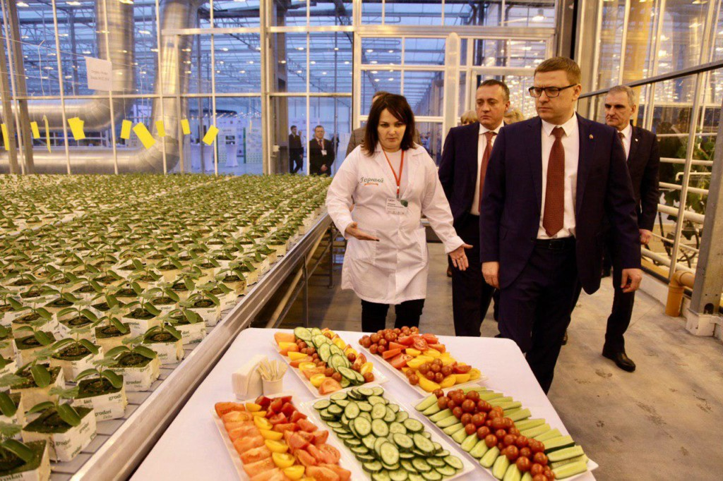 Губернатор открыл самый крупный на Урале агрокомплекс, который должен обеспечить Челябинскую область тепличными овощами